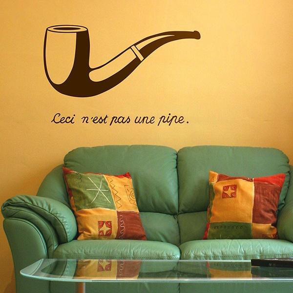 Vinilos Decorativos: Pipa Magritte