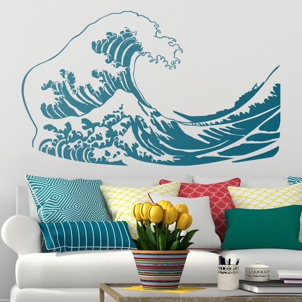 Vinilos Decorativos: La gran ola de Kanawa