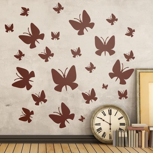 Vinilos Decorativos: Kit 24 mariposas