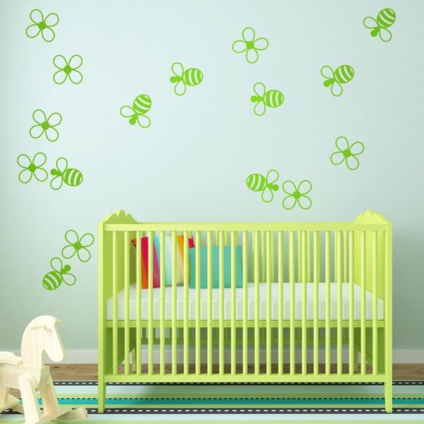 Vinilos Infantiles: abejas y flores