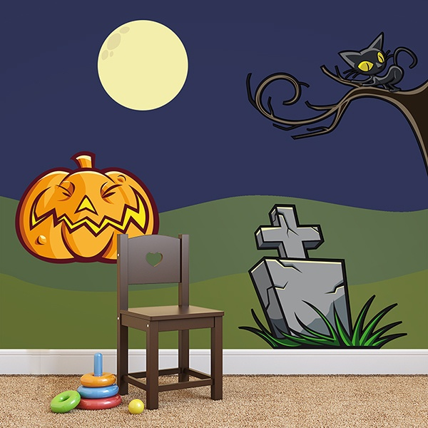 Vinilos Decorativos: KIT halloween color