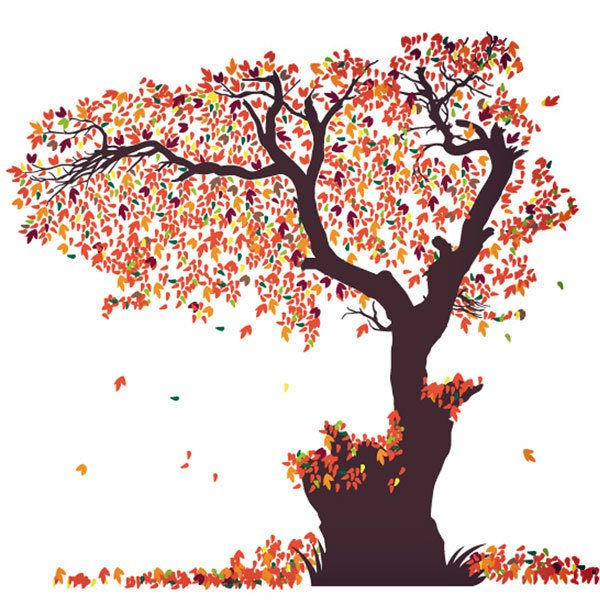 Vinilos Decorativos: Lamina hojas para árboles