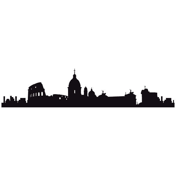 Vinilos Decorativos: Roma Skyline
