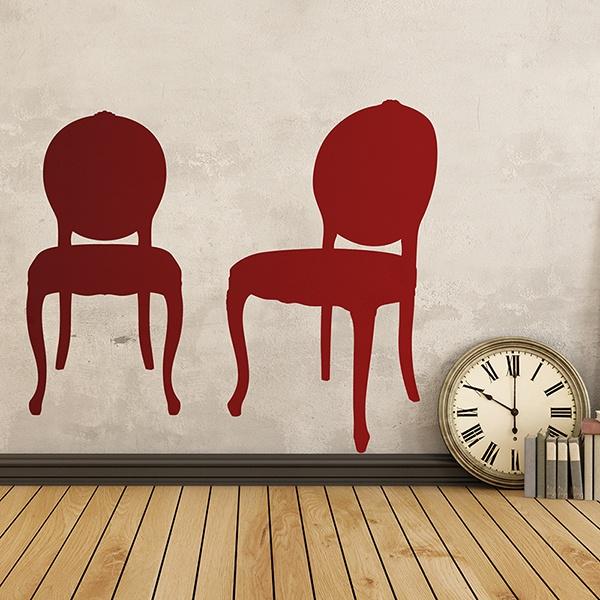 Vinilos Decorativos: Dos sillas vintage