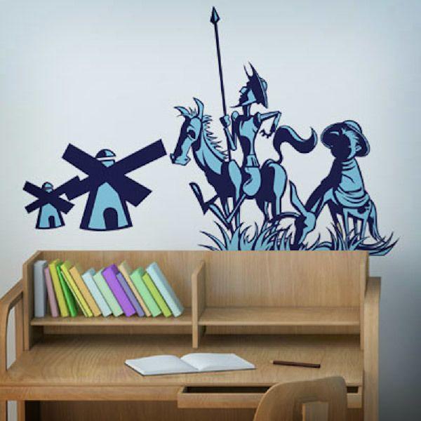 Vinilos Decorativos: Don Quijote y Sancho Panza