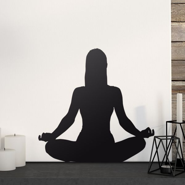 Vinilos Decorativos: Silueta Yoga