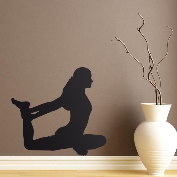Vinilos Decorativos: Silueta Ejercicio Yoga