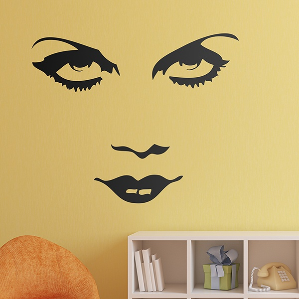 Vinilos Decorativos: Cara de Marlene Dietrich