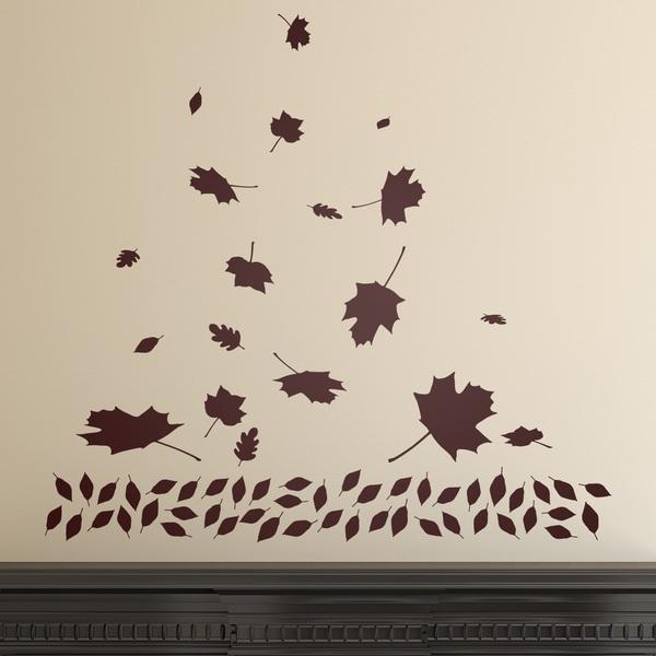 Vinilos Decorativos: Hojas secas en otoño