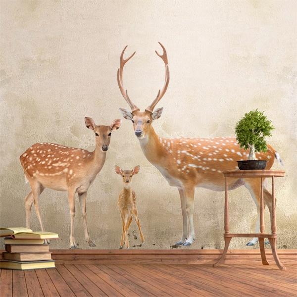 Vinilos Decorativos: Familia de ciervos