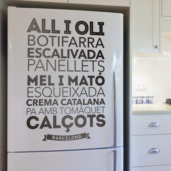 Vinilos Decorativos: Gastronomía de Barcelona