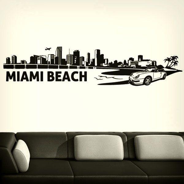 Vinilos Decorativos: Skyline de Miami