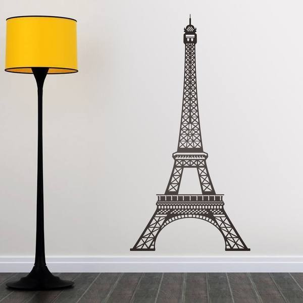 vinilo decorativo de la torre eiffel de par s en francia. Black Bedroom Furniture Sets. Home Design Ideas