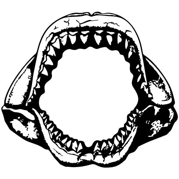 Vinilos Decorativos: Mandíbulas Tiburón