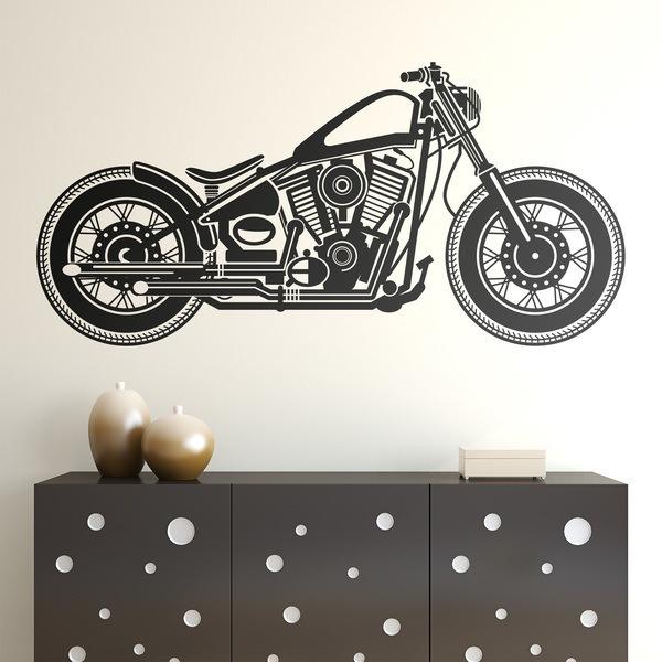 Vinilos Decorativos: Motocicleta Harley