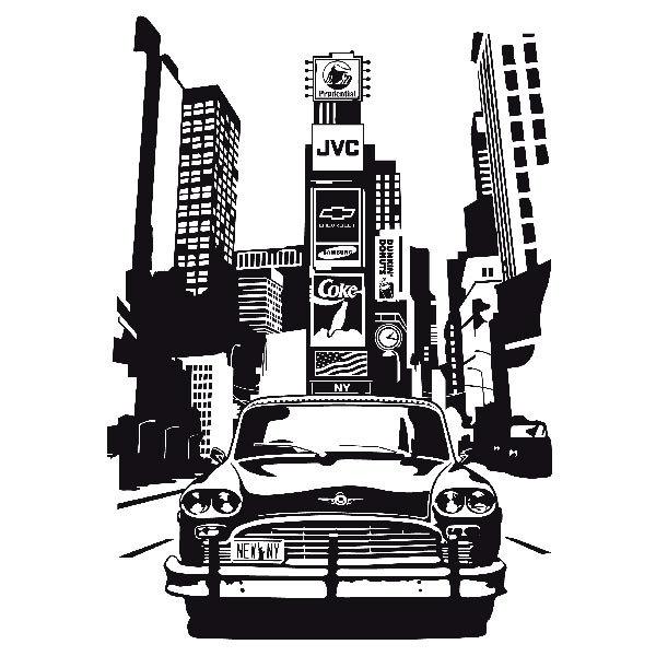Vinilos Decorativos: Taxi Nueva York