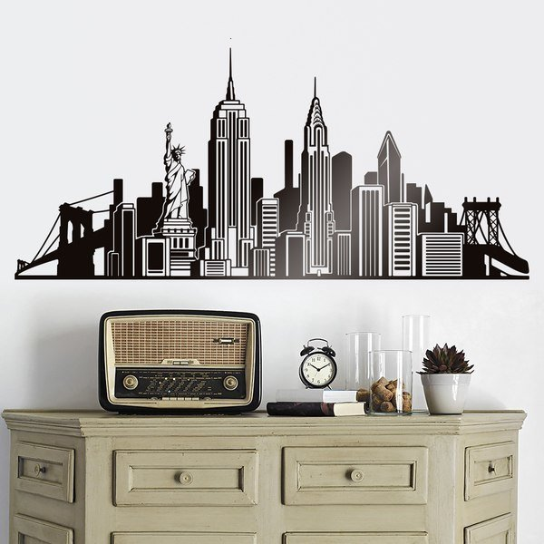Vinilos Decorativos: Skyline Nueva York