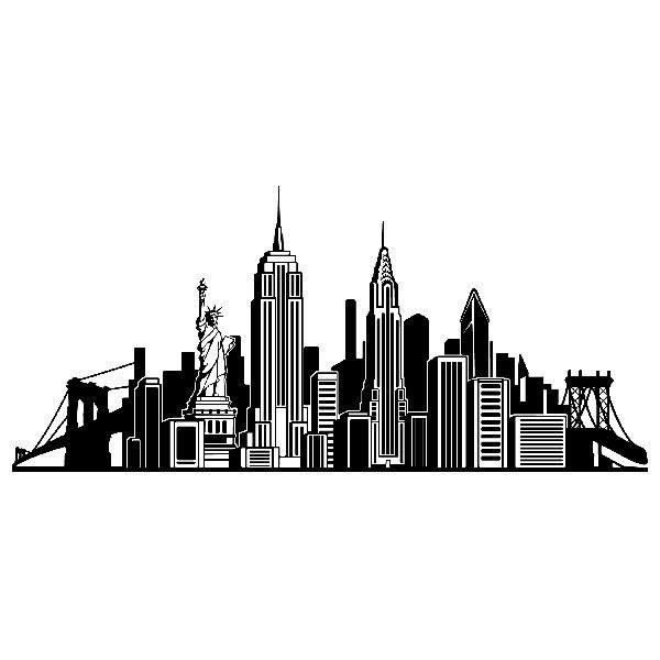 Vinilos Decorativos: Skyline Iconos NYC