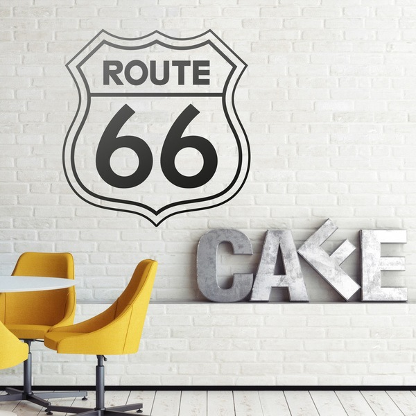 Vinilos Decorativos: Señal Ruta 66