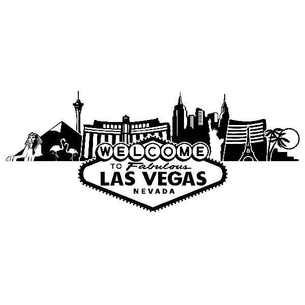 Vinilos Decorativos: Skyline de las Vegas