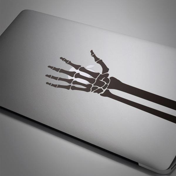 Pegatinas: Esqueleto de una mano