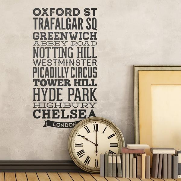 Vinilos Decorativos: Tipográfico Calles Londres