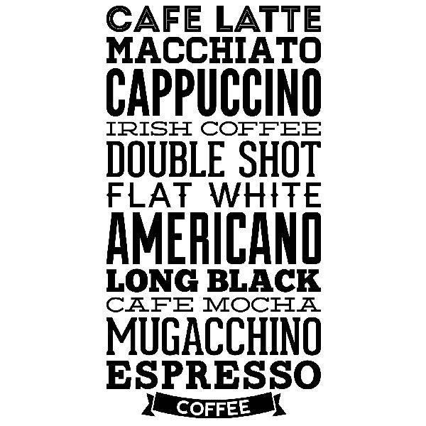 Vinilos Decorativos: Tipos de Café