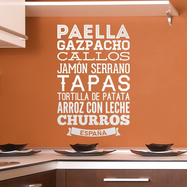 Vinilos Decorativos: Gastronomía de España