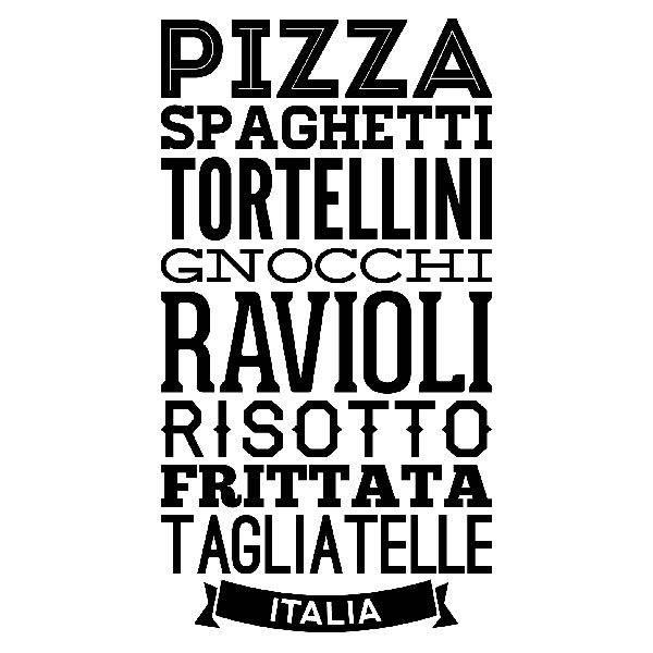 Vinilos Decorativos: Gastronomía de Italia
