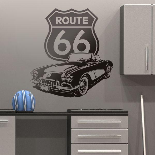 Vinilos Decorativos: Corvette Route 66