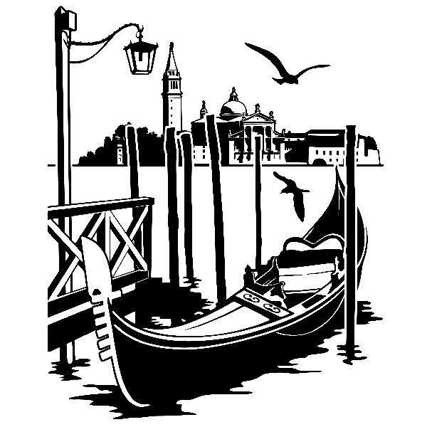 Vinilos Decorativos: Góndola en Venecia