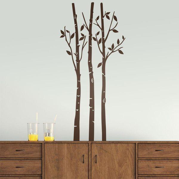 Vinilos Decorativos: Árboles en el bosque en otoño