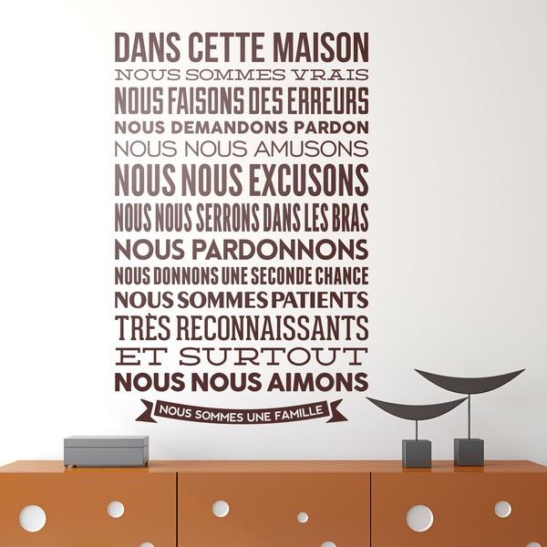 Vinilos Decorativos: Dans cette maison nous sommes vrais