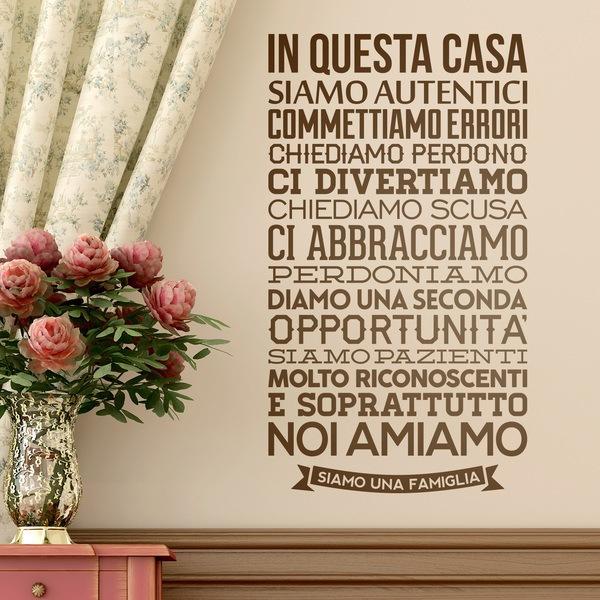 Vinilos Decorativos: In questa casa siamo autentici