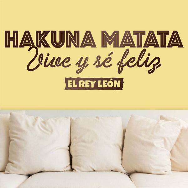 Vinilos Decorativos: Hakuna Matata en español
