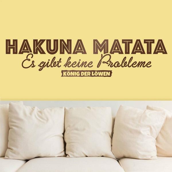 Vinilos Decorativos: Hakuna Matata en alemán