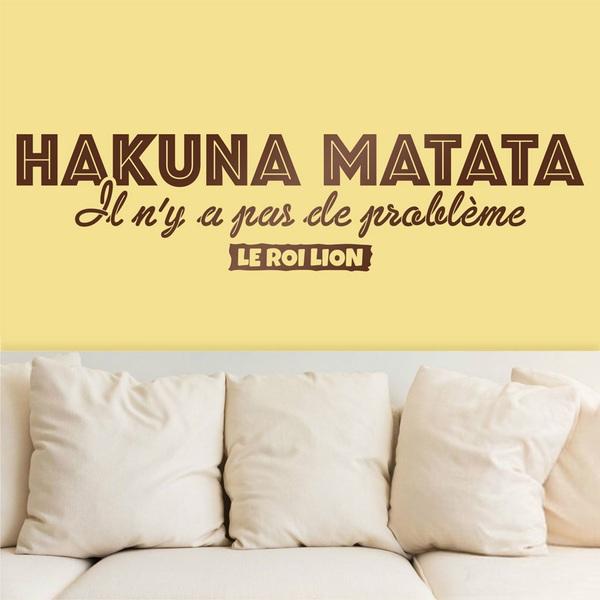 Vinilos Decorativos: Hakuna Matata en francés