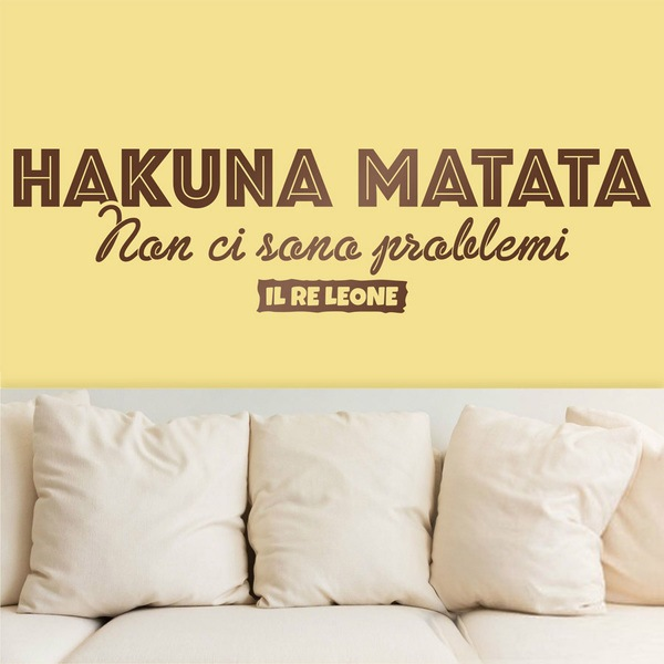 Vinilos Decorativos: Hakuna Matata en italiano
