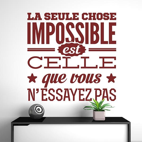 Vinilos Decorativos: La seule chose impossible est celle que vous...