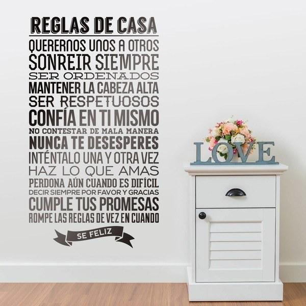 Vinilos Decorativos: Reglas de la Casa
