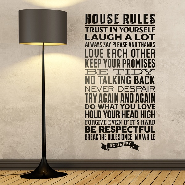Vinilos Decorativos: House Rules