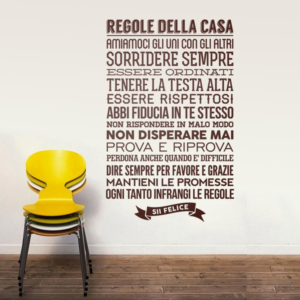 Vinilos de frases en italiano for Frases en vinilo para pared
