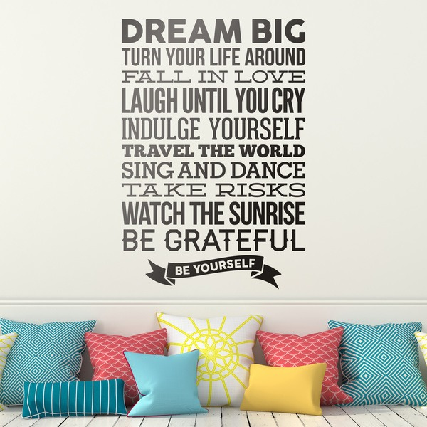 Vinilos Decorativos: Dream big and be yourself