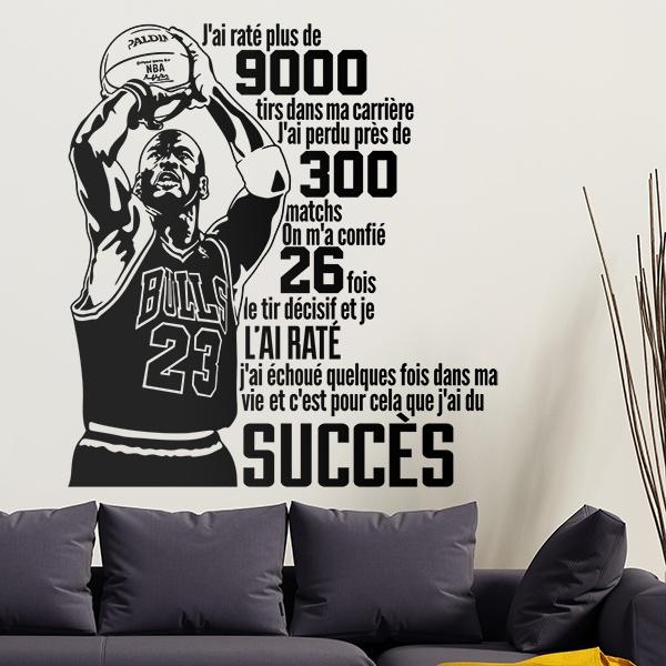 Vinilos Decorativos: Le succès de Michael Jordan