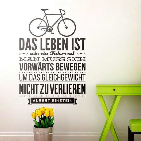 Vinilos Decorativos: Das leben ist wie ein fahrrad...