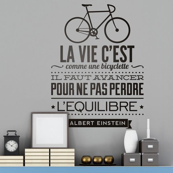 Vinilos Decorativos: La vie c'est comme une bicyclette