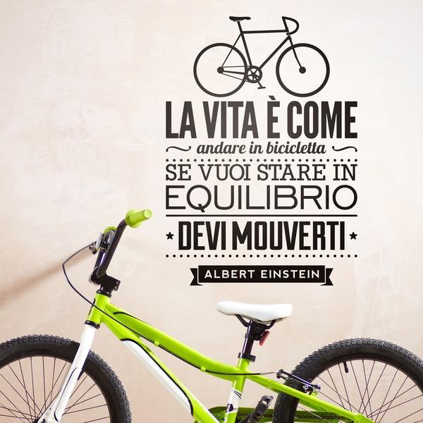 Vinilos Decorativos: La vita è come andare in bicicleta