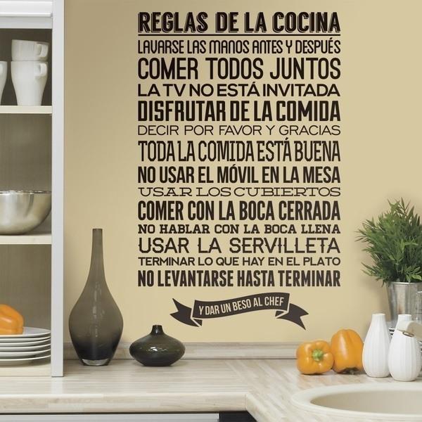 Vinilos Decorativos: Reglas de la Cocina