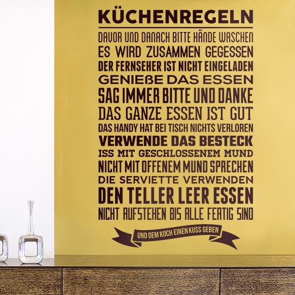 Vinilos Decorativos: Küchenregeln