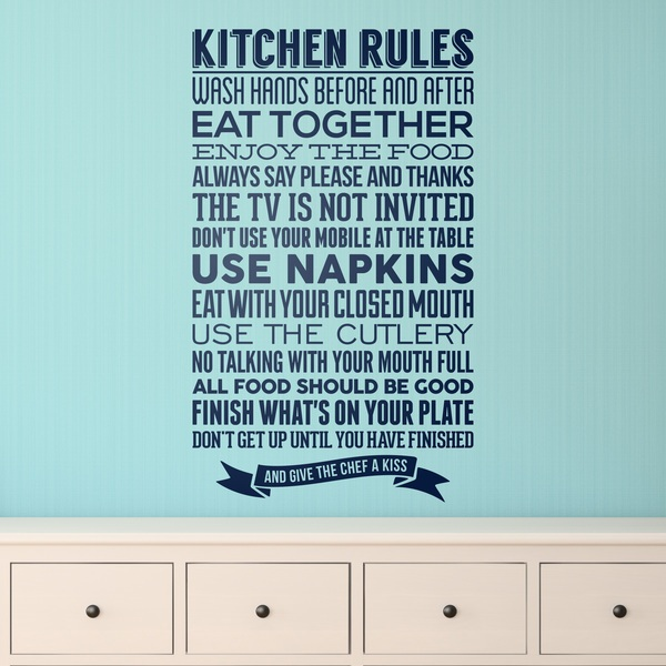 Vinilos Decorativos: Kitchen Rules